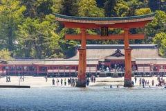 Miyajima, grand Shinto célèbre photographie stock