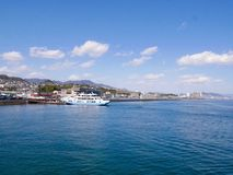 Miyajima hamn i Japan Royaltyfria Bilder