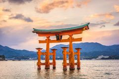 Miyajima, Hiroshima, Japão imagem de stock royalty free