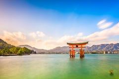 Miyajima Hiroshima, Japan royaltyfria bilder