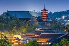 Miyajima, Hiroshima, Japan. Stock Image