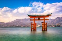 Miyajima, Hiroshima, Japan stock images
