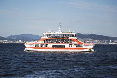 Miyajima island ferry port Royalty Free Stock Images