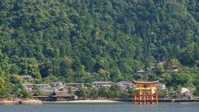 Miyajima island and Floating Torii gate in Japan. Royalty Free Stock Photos