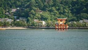 Miyajima island and Floating Torii gate in Japan. Stock Photo