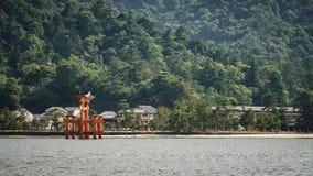 Miyajima island and Floating Torii gate in Japan. Royalty Free Stock Image
