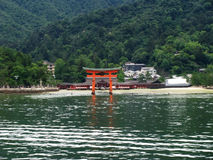 Miyajima island - temple and its seagate Stock Image