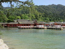 Miyajima Itsukushima świątynia, Torii brama Fotografia Royalty Free