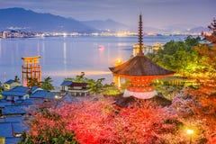 Miyajima, Japan im Frühjahr lizenzfreies stockbild