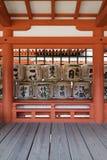 Miyajima - Japan, May 26, 2017:  Traditional sake barrels at th Royalty Free Stock Photos