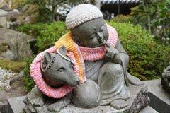 Miyajima jizo. Japan - jizo statue in Daishouin Buddhist temple on the island Miyajima in Hatsukaichi (Hiroshima prefecture, region Chugoku royalty free stock photography