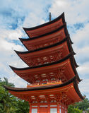 Miyajima pagoda Royalty Free Stock Photo