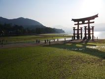 Miyajima sceniska fläckar i Japan arkivfoto
