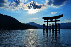 Miyajima shinto shrine gate Japan Royalty Free Stock Photography