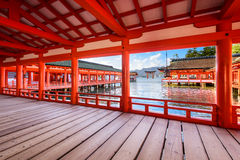 Miyajima Shrine Japan stock photo
