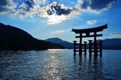 Miyajima sintoizm świątyni brama Japonia Fotografia Royalty Free