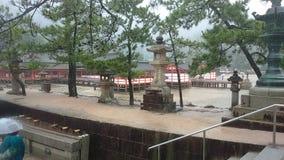 Miyajima Sintoizm świątynia Hiroszima Japonia Obraz Stock