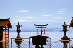 miyajima tempel Arkivbild
