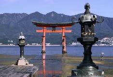 miyajima tempel Royaltyfri Fotografi