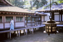Miyajima temple candle Royalty Free Stock Photos