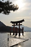 Miyajima Toori. Japanese traditional architecture Royalty Free Stock Photo