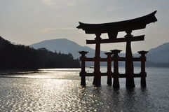 Miyajima Toori. Japanese traditional architecture Stock Image