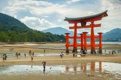 Miyajima-Tor in Hiroschima Lizenzfreie Stockbilder