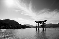 Miyajima Torii Photos libres de droits