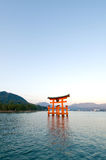 miyajima torii Arkivbilder