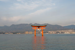 Miyajima Torii. Torri Gate in Miyajima, Japan Royalty Free Stock Photo