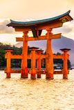 Miyajima Torii gate, Japan. Stock Photos