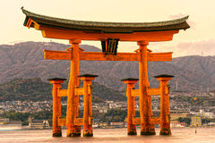 Miyajima Torii gate, Japan. Royalty Free Stock Photos
