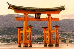 Miyajima Torii gate, Japan. Royalty Free Stock Photos