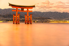 Miyajima Torii gate, Japan. Royalty Free Stock Photography