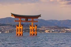 Miyajima torii gate, near Hiroshima, Japan Royalty Free Stock Images