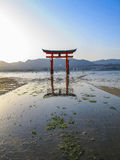 Miyajima torii, Japan. The famous floating torii of Miyajima Island, Japan Stock Image