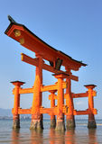 Miyajima Torii At Low Tide Royalty Free Stock Photography