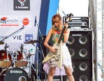 Miyazawa Marin (guitarra) del grupo de LoVendor Fotos de archivo libres de regalías