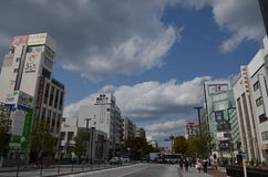 Miyuki Dori Street en Himeji-ciudad Fotografía de archivo