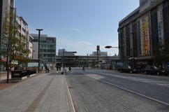 Miyuki Dori Street in Himeji-città Immagine Stock Libera da Diritti