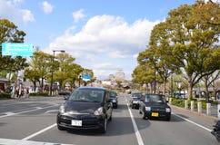 Miyuki Dori Street in Himeji-città Fotografia Stock Libera da Diritti