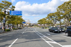 Miyuki Dori Street in Himeji-città Immagini Stock Libere da Diritti