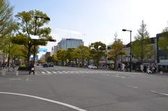 Miyuki Dori Street in Himeji-Stad Stock Afbeelding