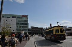 Miyuki Dori Street i Himeji-stad Arkivbilder