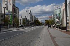 Miyuki Dori Street i Himeji-stad Royaltyfri Fotografi