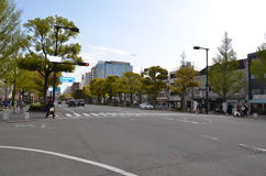 Miyuki Dori Street i Himeji-stad Fotografering för Bildbyråer
