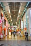 Miyukidori het Winkelen Arcade in Himeji, Japan Stock Foto's