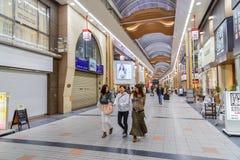 Miyukidori het Winkelen Arcade in Himeji, Japan Royalty-vrije Stock Afbeelding