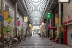 Miyukidori zakupy ulica blisko Himeji staci fotografia stock