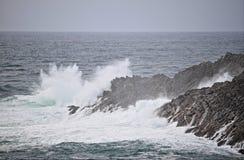 Mizen头海岸线在多暴风雨的天气的 库存图片